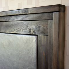 upholstered leather headboard with stacked wood frame do it yourself home projects from ana white