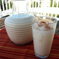 """Horchata Made Easy...Mexican drink...All you need is water, sugar, and a bit of cinnamon to flavor the rice milk."""" My favorite as a lil girl <3"""