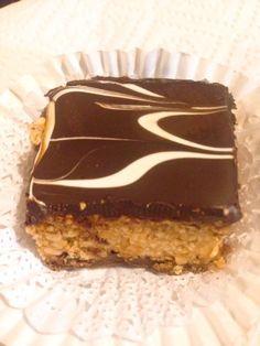 Zellige ou Gâteau marbré aux cacahuètes et chocolat (sans cuisson) – la Fée Soni