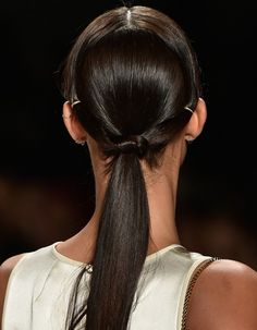 A slick pony tail is easy AND sophisticated.