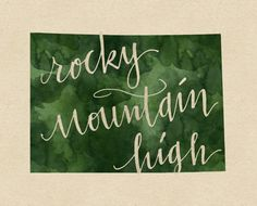 Colorado Rocky Mountain High print by penmeetpaper on Etsy