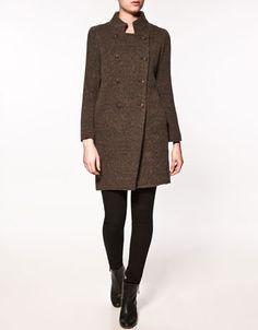 Basic wool coat from Zara