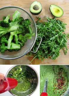 Creamy Avovado, Arugula, Broccoli Soup