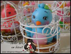 Nilci art's em biscuit: Lembrança passarinhos