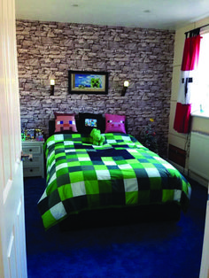 Kids Room Ideas For Girls Toddler Minecraft.Nature Themed Boys Bedroom Ideas With Tree House Like Mini . Minecraft Room Decor Treatments Is One Of The Most . Storage Stairs With Bookcase For IKEA Kura Bed Kura Bed . Home and Family