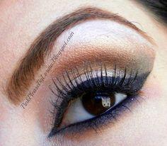 Kim Kardashian inspired Smokey makeup look ,EOTD