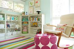 Small Space Solutions for Shared Kids' Room (Love all the shelving here)
