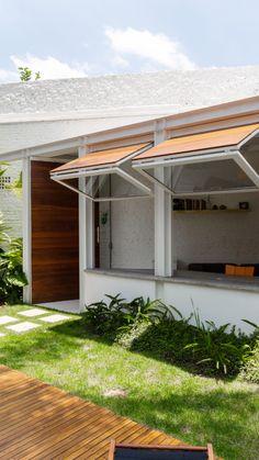 Terrace Design, Cafe Design, Patio Design, Exterior Design, Window Design, Door Design, House Design, Architecture Details, Modern Architecture