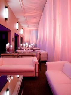 Luxe Reception Lounge  -  Give guests a place to mingle between dance breaks by creating a lounge area at your reception. Fill the space with couches or chairs and plenty of pillows to sink into. It's the perfect way to keep everyone in on the party even when they're resting. Really want to wow 'em? Close off the area with curtains to create a VIP vibe.