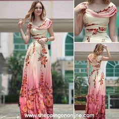 Red Evening Gown - Modern Floral Printing $199.99 (was $235) Click here to see more details http://shoppingononline.com/custom-made-dresses/red-evening-gown-modern-floral-printing.html #RedEveningGown #FloralEveningGown #ModernEveningGown #RedFloralEveningGown #FloralDress #CustomMadeDress