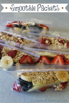 Cook and Craft Me Crazy: Smoothie Packets