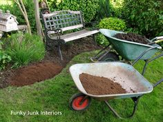 In the Garden – edging and compost talk | Funky Junk Interiors.  Man, that lady cracks me up!  @Donna - Funky Junk Interiors