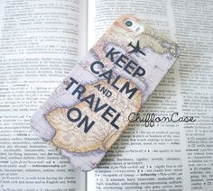 World Map iPhone 5 case Travel Quote iphone 5s case by ChiffonCase, $19.00