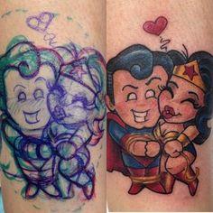 Superman Loves Wonder Woman Tattoo