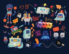 Sound Creatures and other illustrations on Behance
