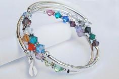 Together We Will Win® Spiral Bracelet with Swarovski® Crystals