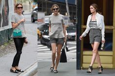 Olivia Palermo - Black and White Outfit - Elle