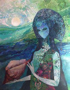 Olga Zelinska - Paintings for Sale Art For Sale Online, Online Art, Paintings For Sale, Original Paintings, Figurative Kunst, Fantastic Art, Hanging Art, Art Decor, Saatchi Art