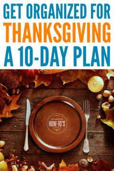Thanksgiving Preparation Checklist