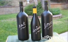 DIY wine bottle crafts any mom can make