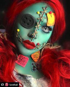 12 Make-up-Ideen für Halloween - Halloween Costumes / Make Up - halloween makeup Scary Makeup, Sfx Makeup, Costume Makeup, Last Halloween, Halloween Makeup Looks, Halloween Make Up Scary, Zombie Halloween Costumes, Fantasias Halloween, Halloween Disfraces