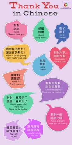 """In this article, we are going to introduce you to how Chinese people actually say """"thank you"""" in Mandarin Chinese. Infographic and vidoe are included! Mandarin Lessons, Learn Mandarin, Japanese Language Learning, Chinese Language, German Language, Spanish Language, French Language, Thank You In Chinese, Chinese Flashcards"""
