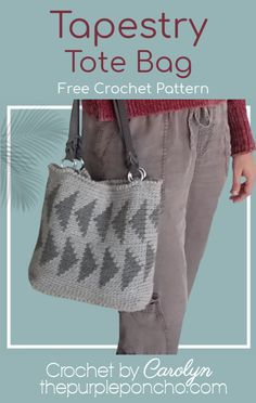This free crochet pattern includes written instructions and a chart to make the bag. It's an easy and repetitive design in Tapestry Crochet. Quick Crochet, Free Crochet, Knit Crochet, Crochet Teacher Gifts, Crochet Gifts, Tapestry Bag, Tapestry Crochet, Crochet Pumpkin Pattern, Crochet Patterns
