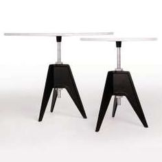 Screw Base Table - Marble