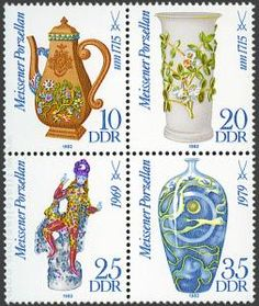 Stamp - DDR La Porcelana de Meissen