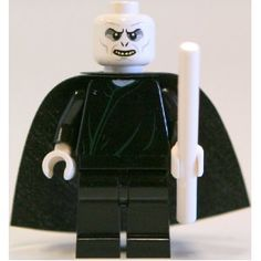 Lord Voldemort with White Wand - LEGO Harry Potter Minifigure 2010