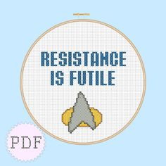 INSTANT DOWNLOAD Geeky Cross Stitch PDF Star by DisorderlyStitches, $3.00