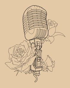 microphone - mmm beautiful. i would definitely consider getting this as a tattoo.