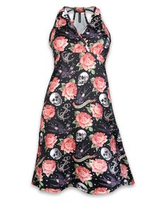 Liquor Brand Damen ROSE TATTOO Kleid.Oldschool,Tattoo,Pinup,Custom Style
