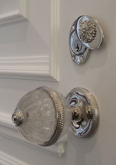 Door knob and key hole cover... I like the idea of the key hole cover for the guest room inside the house.