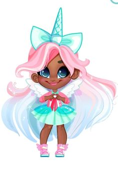 Hairdorables: Each doll package is a surprise – just pull, peel, and reveal 11 accessories and fashions that unwrap the unique personality, style, and talent of the Hairdorables girl hidden inside! Anime Chibi, Anime Art, Lol Dolls, Cute Dolls, Baby Pink Aesthetic, Unicorn Pictures, Unicorn Pics, Doll Eyes, Toys For Girls
