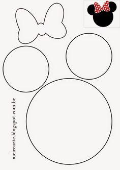 .::Meire Arte: Molde Cabeça da Minnie                              …                                                                                                                                                                                 Mais