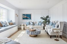 Lounge, Ldry/Powder + Multi-Use Room Reveal, Episode 4 Hamptons Living Room, Hamptons Kitchen, My Living Room, Die Hamptons, Hamptons Style Homes, Hamptons Decor, Lounge Rug, Style Lounge, Three Birds Renovations