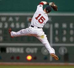 Dustin Pedroia - Boston Red Sox: this is why they call him the Laser Show. He makes plays like this one. 4x Rawlings Gold Glove Winner (2008, 2011, 2013, 2014); 3x Fielding Bible Award winner (2008, 2013, 2014); 2008 American League MVP; 2007 AL Rookie of the Year.