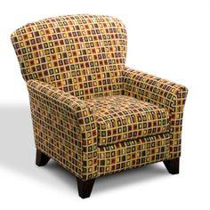 LaCrosse Furniture Kent Ridge Chair with Brown Legs   Wayfair