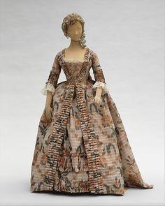 Robe à la Française Date: 1760–70 Culture: French Medium: silk Accession Number: C.I.60.40.2a, b