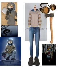 Ticci Toby Cosplay by bloodandglitter on Polyvore