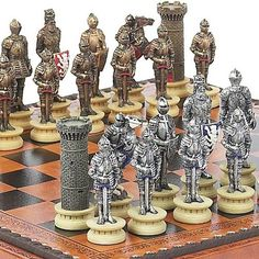 Medieval Chessmen  Marcello Chess  Checkers Board from Italy *** You can get additional details at the image link.