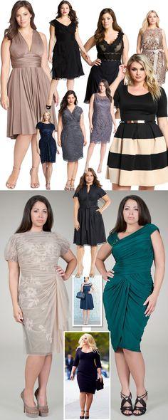 vestido-curto / Vestido plus size  #Dress Big Dresses, Event Dresses, Plus Size Dresses, Plus Size Outfits, Plus Size Chic, Plus Size Casual, Pretty White Dresses, Beautiful Dresses, Xl Mode