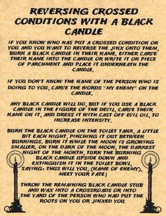 Reversing Crossed Conditions Spell, Book of Shadows, Witchcraft, Wicca, Charmed Hoodoo Spells, Magick Spells, Candle Spells, Candle Magic, Curse Spells, Real Spells, Love Spells, Revenge Spells, Love Spell Caster