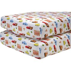 Disney Cars Radiator Springs Crib Sheets, 2pk  I really don't want connor's new room to be an explosion of Lightening McQuenn....but having these as an extra sheet set, I'm sure he'd enjoy!