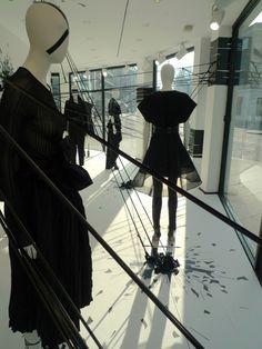 Retail Window Display- Joseph Black is the new Black windows, London - UK Visual Merchandising, Fashion Retail Interior, Uk Retail, Retail Windows, Shop Windows, Window Display Design, Displays, Black Windows, Exhibition Display