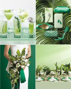 Wedding color inspiration: Emerald and Jade