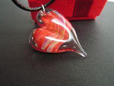 Wisiorek szklane serce lampwork prezent