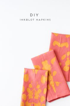 5 Minute DIY // How to Make Inkblot Fabric Napkins