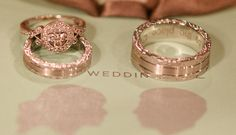 Rose Gold Wedding Ring? OHMYGOSHHHHHH!   I seriously might pass out if I had this ring... ugh so Gorgeous! <3 <3 <3